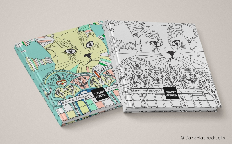 DarkMaskedCats - the Coloring Book